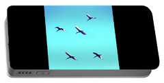 Five Ibis In Flight Portable Battery Charger by Cassandra Buckley
