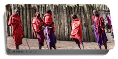 Five Maasai Warriors Portable Battery Charger