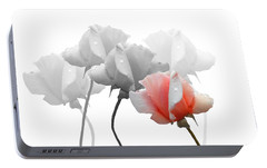 Portable Battery Charger featuring the photograph Five Roses by Rosalie Scanlon