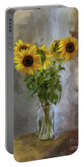 Five Sunflowers Centered Portable Battery Charger
