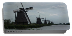 Five Windmills In Kinderdijk Portable Battery Charger