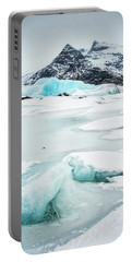 Portable Battery Charger featuring the photograph Fjallsarlon Glacier Lagoon Iceland In Winter by Matthias Hauser
