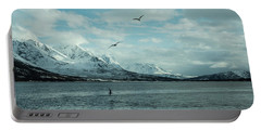 Fjord Landscape In The North Of Norway  Portable Battery Charger by Tamara Sushko