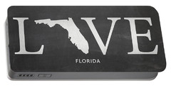 Portable Battery Charger featuring the mixed media Fl Love by Nancy Ingersoll