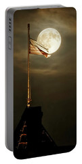Flag And Moon -01 Portable Battery Charger