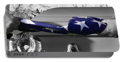 Flag For The Fallen - Selective Color Portable Battery Charger