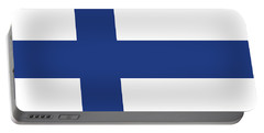 Portable Battery Charger featuring the digital art Flag Of Finland by Bruce Stanfield