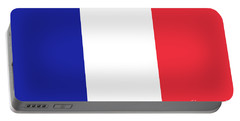 Flag Of France High Quality Authentic Image Portable Battery Charger