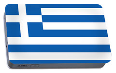 Portable Battery Charger featuring the photograph Flag Of Greece by Robert Banach