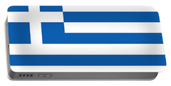Flag Of Greece Portable Battery Charger by Robert Banach