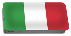 Portable Battery Charger featuring the digital art Flag Of Italy by Bruce Stanfield