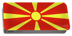 Portable Battery Charger featuring the digital art Flag Of Macedonia by Bruce Stanfield