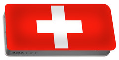 Portable Battery Charger featuring the digital art Flag Of Switzerland by Bruce Stanfield