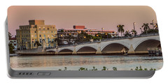 Flagler Bridge In The Evening I Portable Battery Charger