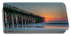 Flagler Pier Sunrise Portable Battery Charger