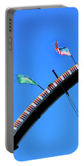Portable Battery Charger featuring the photograph Flags And Ferris Wheels by Jerry Sodorff