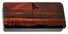 Portable Battery Charger featuring the photograph Flags And Sea Oats by John Harding