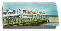 Flags At The Pier Portable Battery Charger