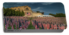 Flags Of Valor On Art Hill Portable Battery Charger