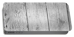 Flaking Grey Wood Paint Portable Battery Charger by John Williams