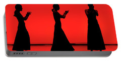 Flamenco Red An Black Spanish Passion For Dance And Rithm Portable Battery Charger by Pedro Cardona