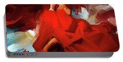 Portable Battery Charger featuring the painting Flamenco Dance 7750 by Gull G