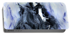 Portable Battery Charger featuring the painting Flamenco Dancer Art 45h by Gull G