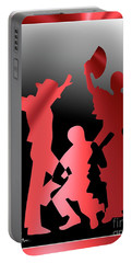 Portable Battery Charger featuring the digital art Flamenco Dancers by Leo Symon