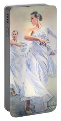 Flamenco In White Portable Battery Charger
