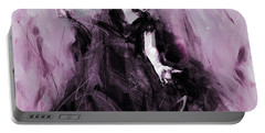 Portable Battery Charger featuring the painting Flamenco Spanish Dance Art by Gull G