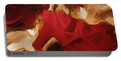 Portable Battery Charger featuring the painting Flamenco Spanish Dance Painting 01 by Gull G
