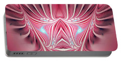 Portable Battery Charger featuring the digital art Flames In My Heart by Jutta Maria Pusl