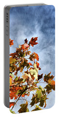Flaming Foliage Portable Battery Charger