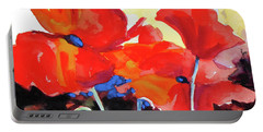 Flaming Poppies Portable Battery Charger