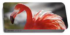Portable Battery Charger featuring the photograph Flamingo 2 by Marie Leslie