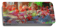 Flamingo Abstract Portable Battery Charger
