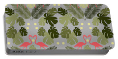 Flamingo And Palms Portable Battery Charger