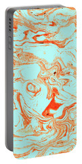 Flamingo And Sea Marble Portable Battery Charger