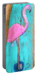 Flamingo Portable Battery Charger by Ann Michelle Swadener