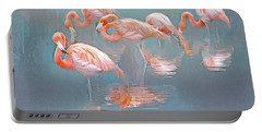 Flamingo Blues Portable Battery Charger by Brian Tarr