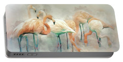 Flamingo Fantasy Portable Battery Charger by Brian Tarr