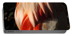 Flamingo Feathers Portable Battery Charger