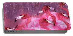 Flamingo Frenzy Portable Battery Charger