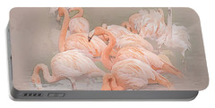 Flamingo Fun Portable Battery Charger by Brian Tarr