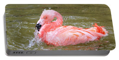 Flamingo Fun Portable Battery Charger by Kathy White