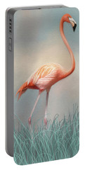 Flamingo Portable Battery Charger by Lena Auxier