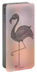 Flamingo1 Portable Battery Charger by Megan Dirsa-DuBois