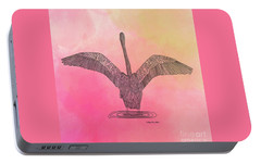 Portable Battery Charger featuring the digital art Flamingo2 by Megan Dirsa-DuBois
