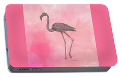 Portable Battery Charger featuring the digital art Flamingo3 by Megan Dirsa-DuBois