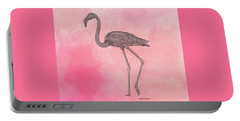 Flamingo3 Portable Battery Charger by Megan Dirsa-DuBois